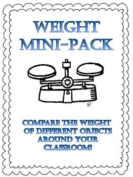 Students will explore measuring different items from the classroom with a balance.  This pack allows students to make a balance craft, measure & record items on a balance based on the items being heavy or light, Weigh items compared to tiles and cubes, & order items from heaviest to lightest & lightest to heaviest after weighing them.