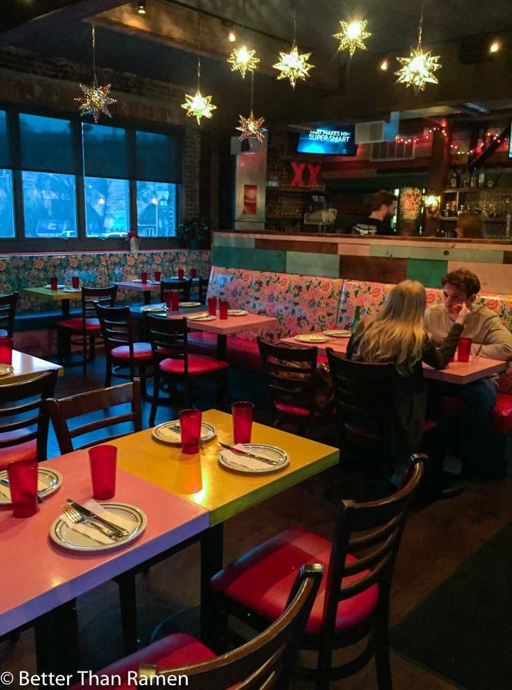 Tacky mexican restaurant decor with a tasteful twist at