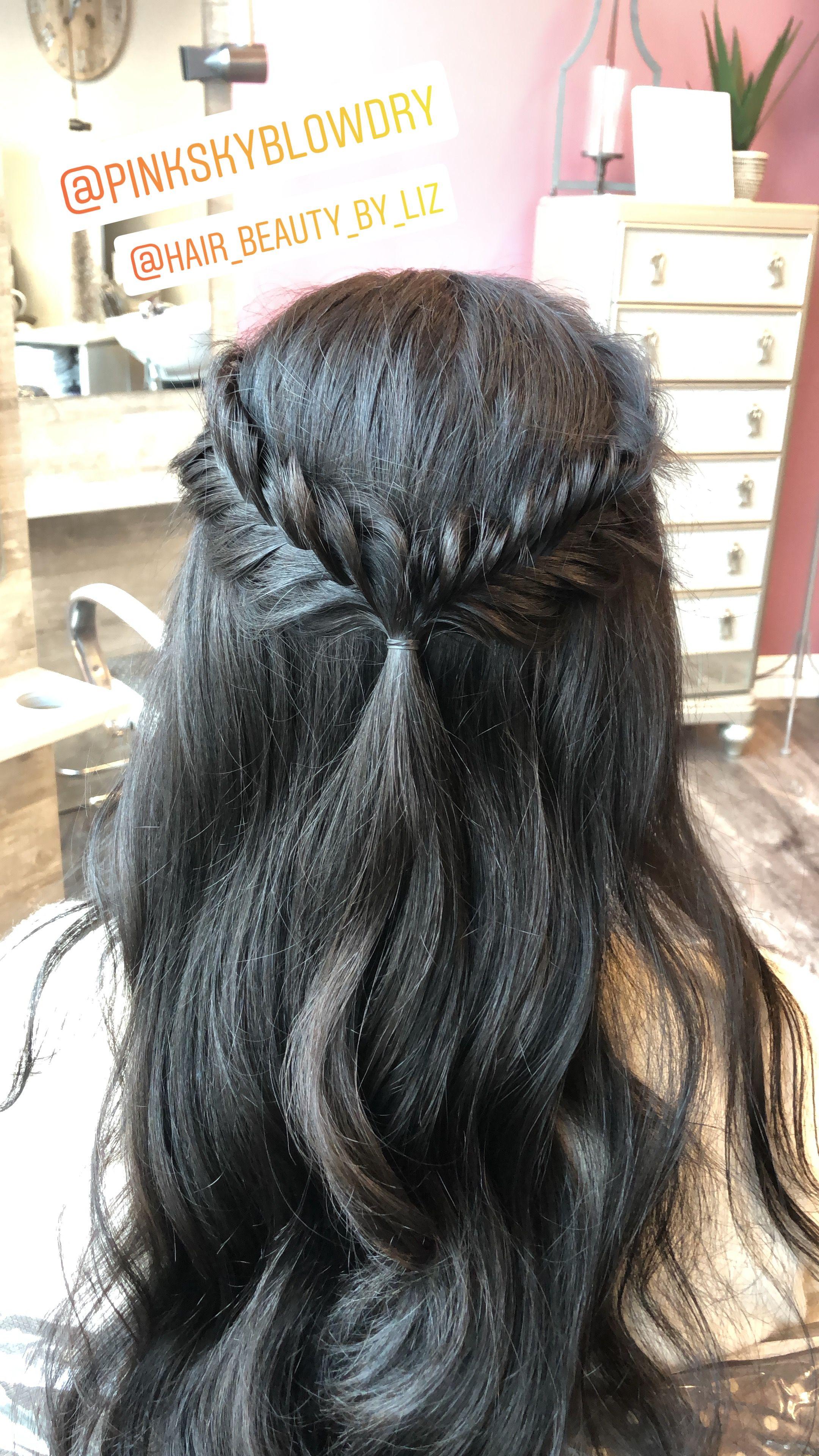 Fishtail Braid With Ashy Dark Brown Hair In 2019 Fishtail