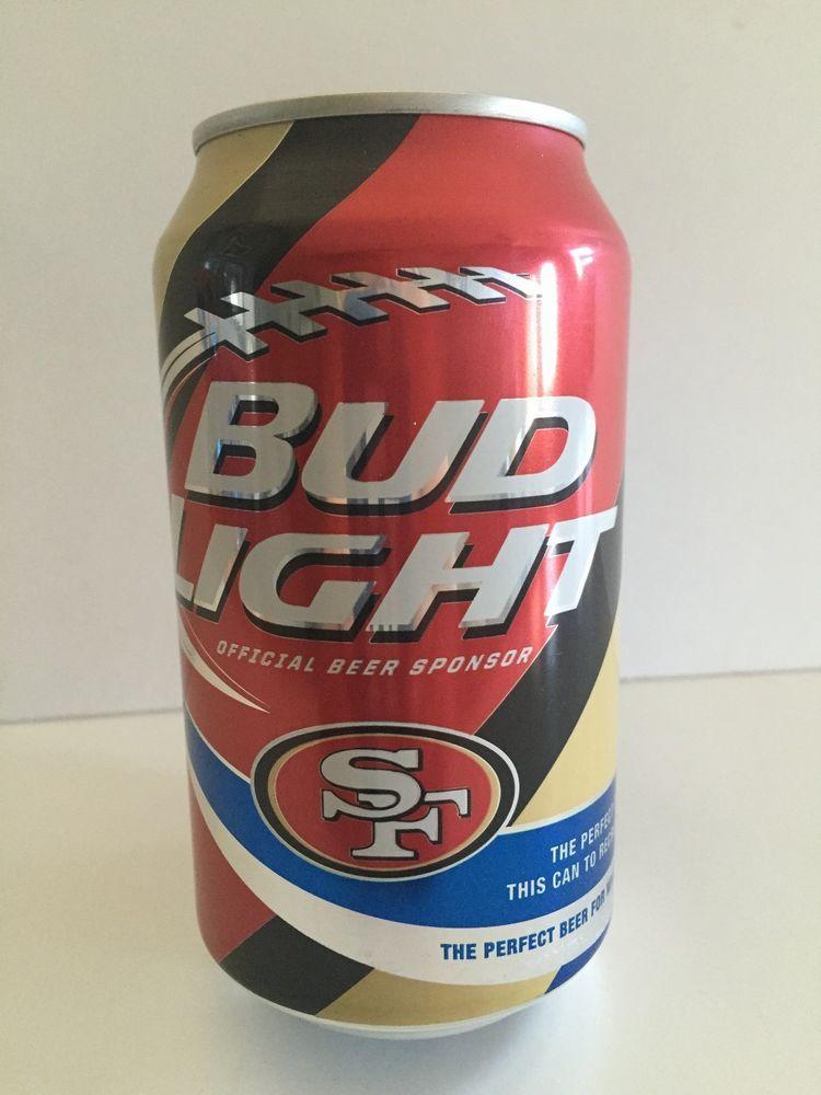 2015 San Francisco 49er's Limited Edition Bud Light Empty