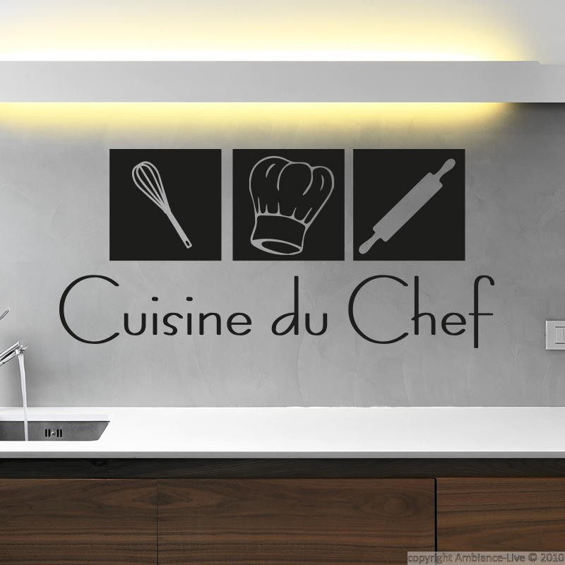 Cuisine du Chef wall decal.