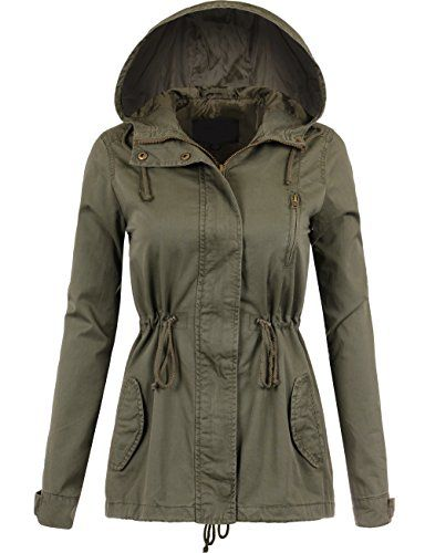a6885d0351b DOUBLDO Womens Military Inspired Classic Solid Anorak Safari Jacket 3XOLIVE     Continue to the product at the image link. (This is an affiliate link)    ...