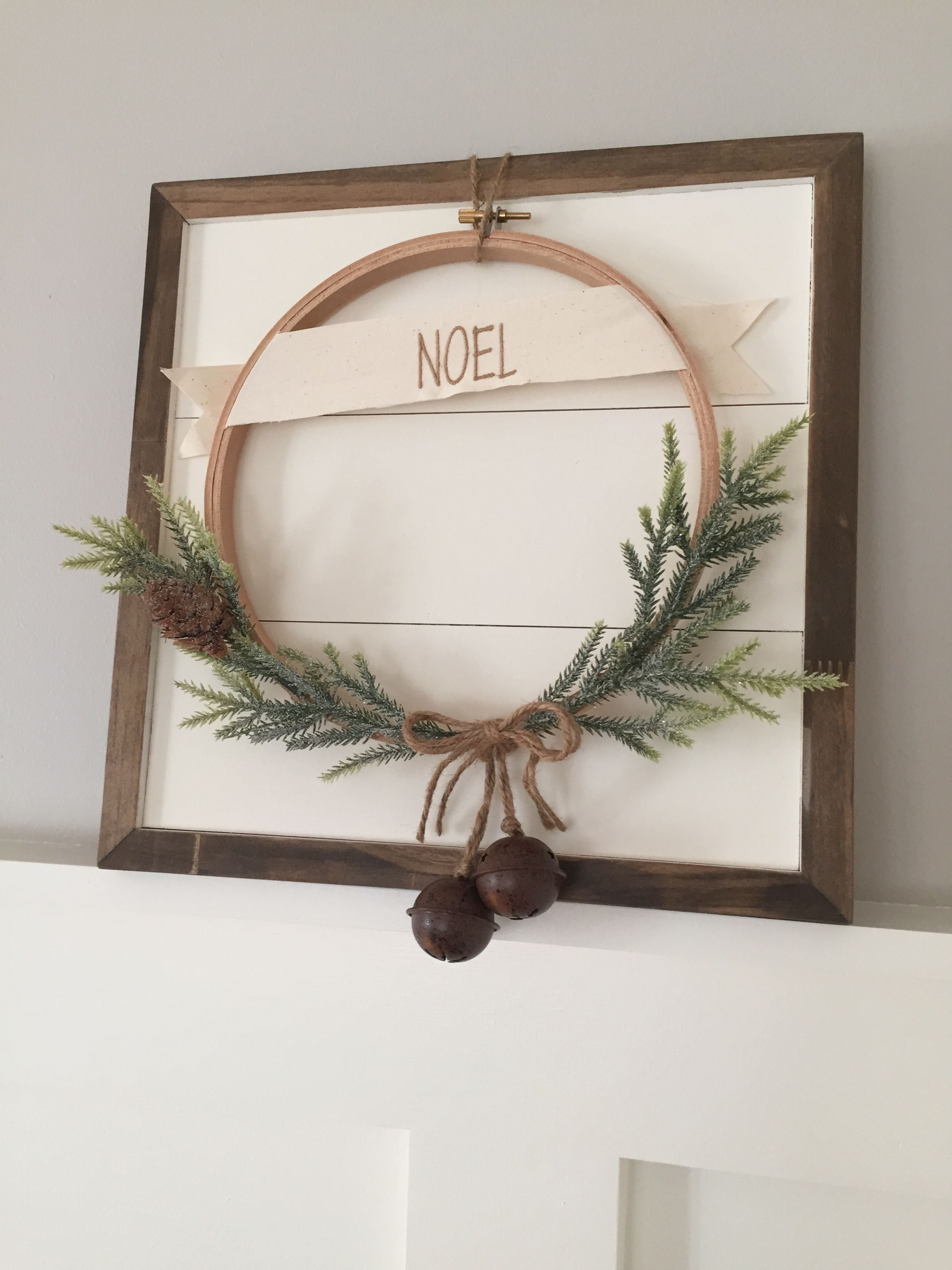 Photo of Shiplap Mini with a custom wreath. These wreaths are seasonal, complete …
