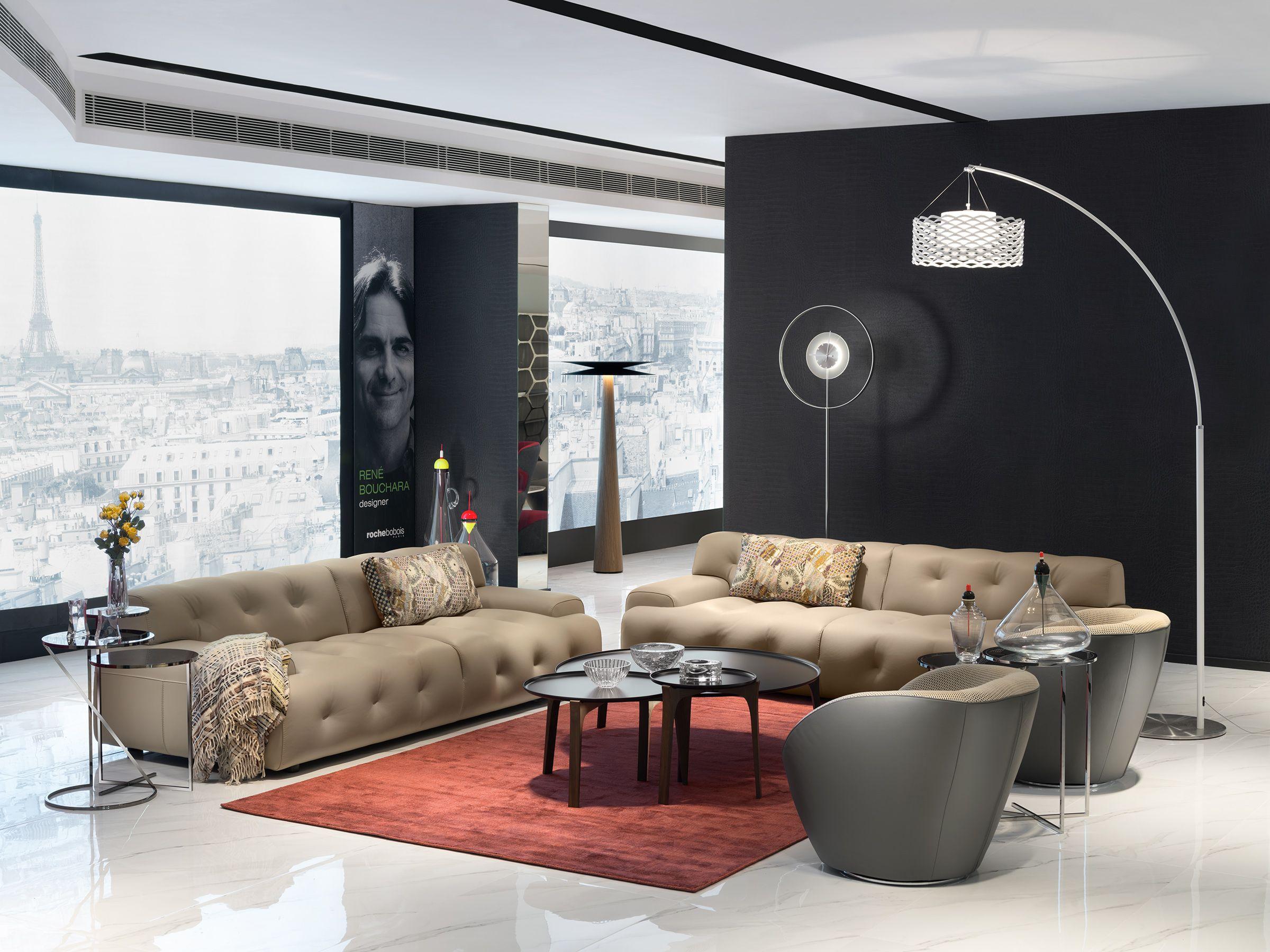 roche bobois escapade sofa designed by zeno nugari and mucidule cocktail table designed by. Black Bedroom Furniture Sets. Home Design Ideas
