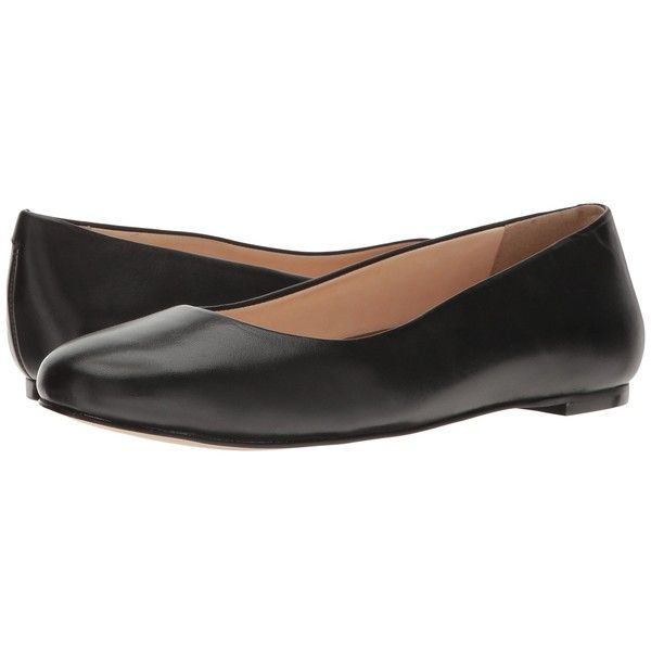 Walking Cradles Bronwyn (Black Soft Maia) Women's Flat Shoes ($100) ❤ liked on Polyvore featuring shoes, flats, black round toe flats, slip on flats, black ballet pumps, slip-on shoes and black shoes