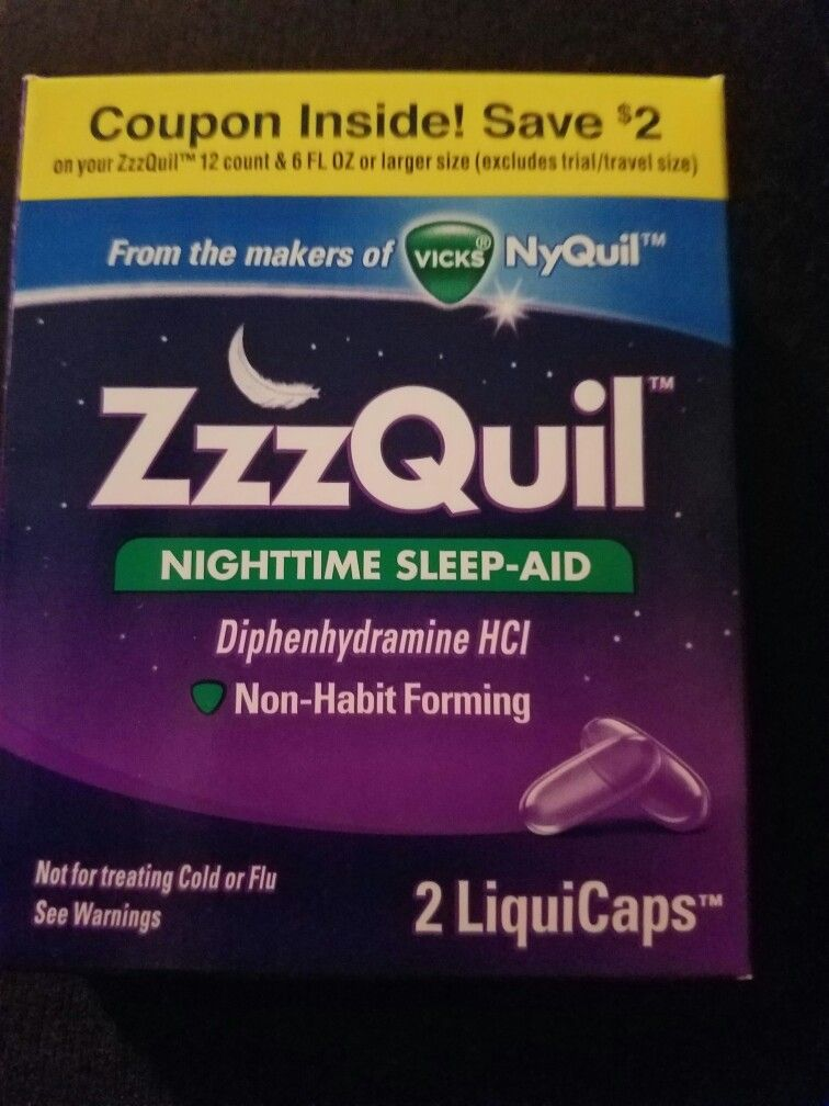 Zzz Quil Nighttime Sleep Aid Habit Forming How To Get Sleep