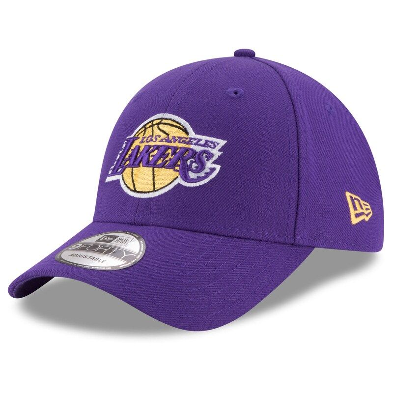 Los Angeles Lakers New Era Official Team Color 9forty Adjustable Hat Purple In 2021 New Era Hat New Era Lakers Hat