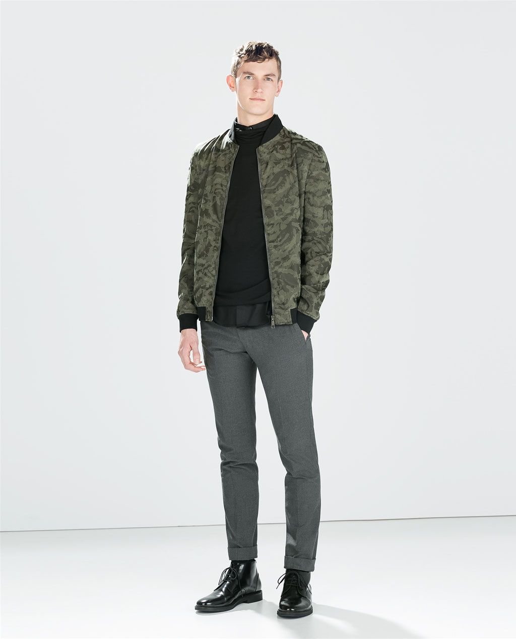 c752c009 Image 1 of CAMOUFLAGE FAUX LEATHER BOMBER from Zara | Clothes ...