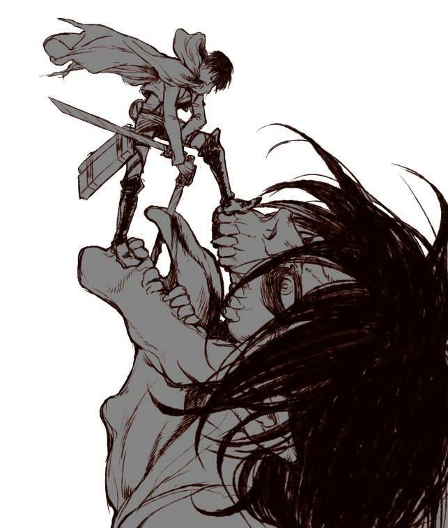 eren titan form tongue SnK - LeviRen  Attack on titan tattoo, Attack on titan anime