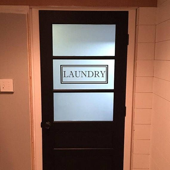 Laundry Vinyl Decal Laundry Room Decal Glass Door Vinyl Lettering Rectangle Border Traditional Decor In 2020 Laundry Room Decals Vinyl Decals Vinyl Lettering