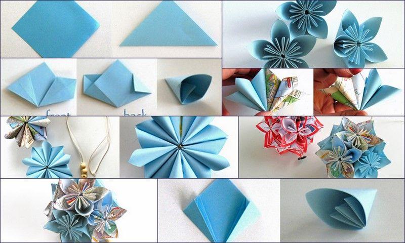 Origami Deko 53 anleitungen für origami blume so werden sie einzigartige blumen
