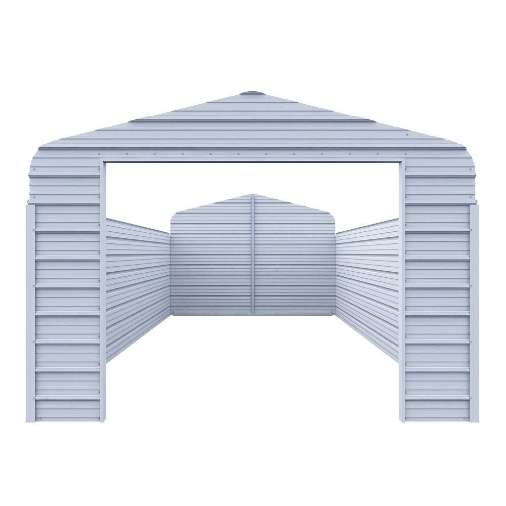 Versatube Enclosure Kit For 12 Ft W X 20 Ft L X 7 Ft H Steel Carport Ek1218072 In 2020 Pergola Steel Carports Pergola Kits