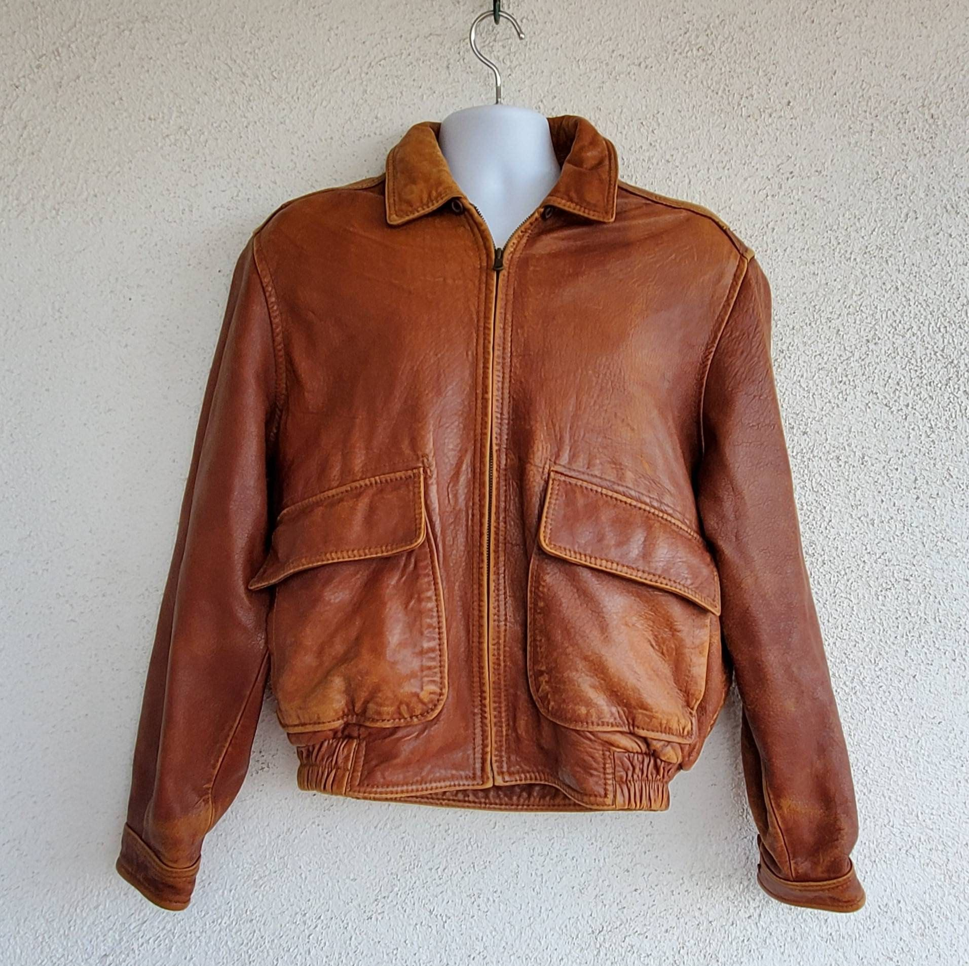 Men S Leather Jacket Wilson S Brown Leather Jacket Etsy Brown Leather Jacket Men Leather Jacket Leather Flight Jacket [ 1906 x 1912 Pixel ]