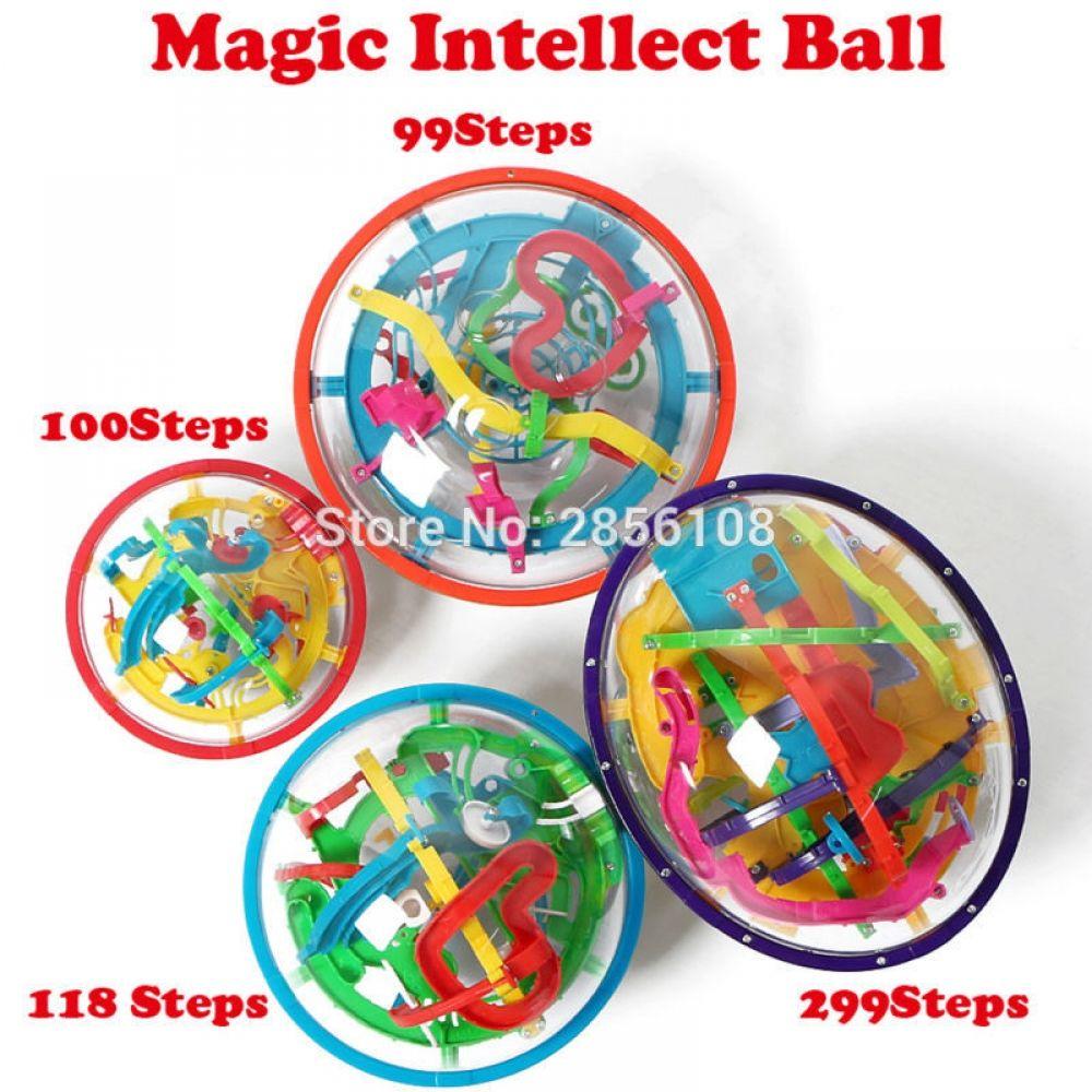 3D House Style Maze Intellect Ball Balance Game Puzzle Kids X-mas Toys YN