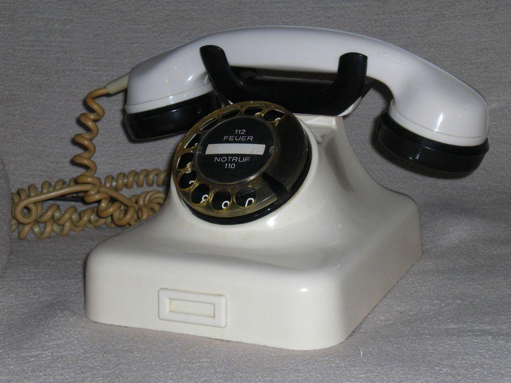 Altes Telefon W48 Mit Wahlscheibe Aus Bakelit 50er Altes Telefon