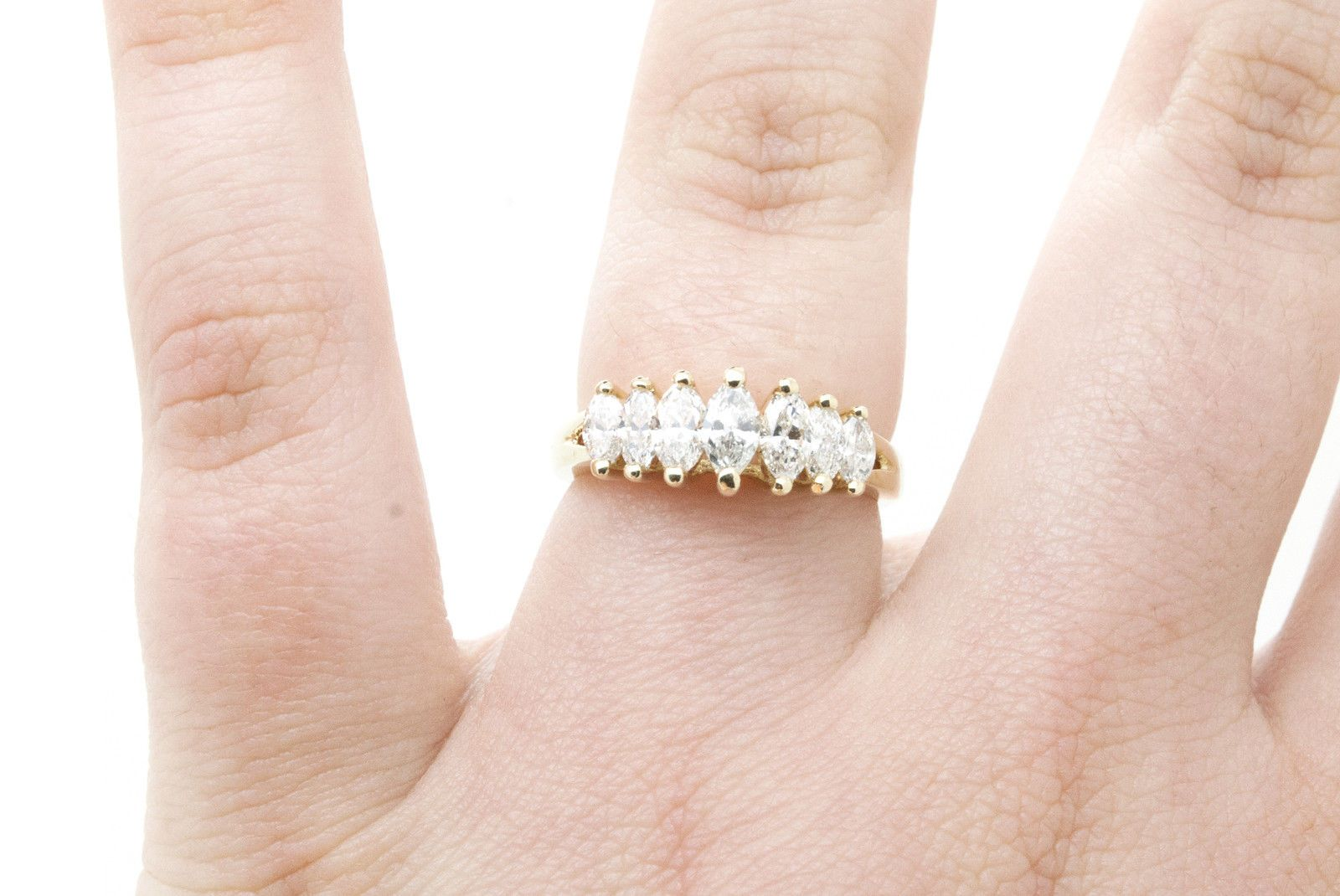 1.00CT BRILLIANT CREATED DIAMOND ETERNITY RING SOLID 14K WHITE GOLD BAND SIZE 8