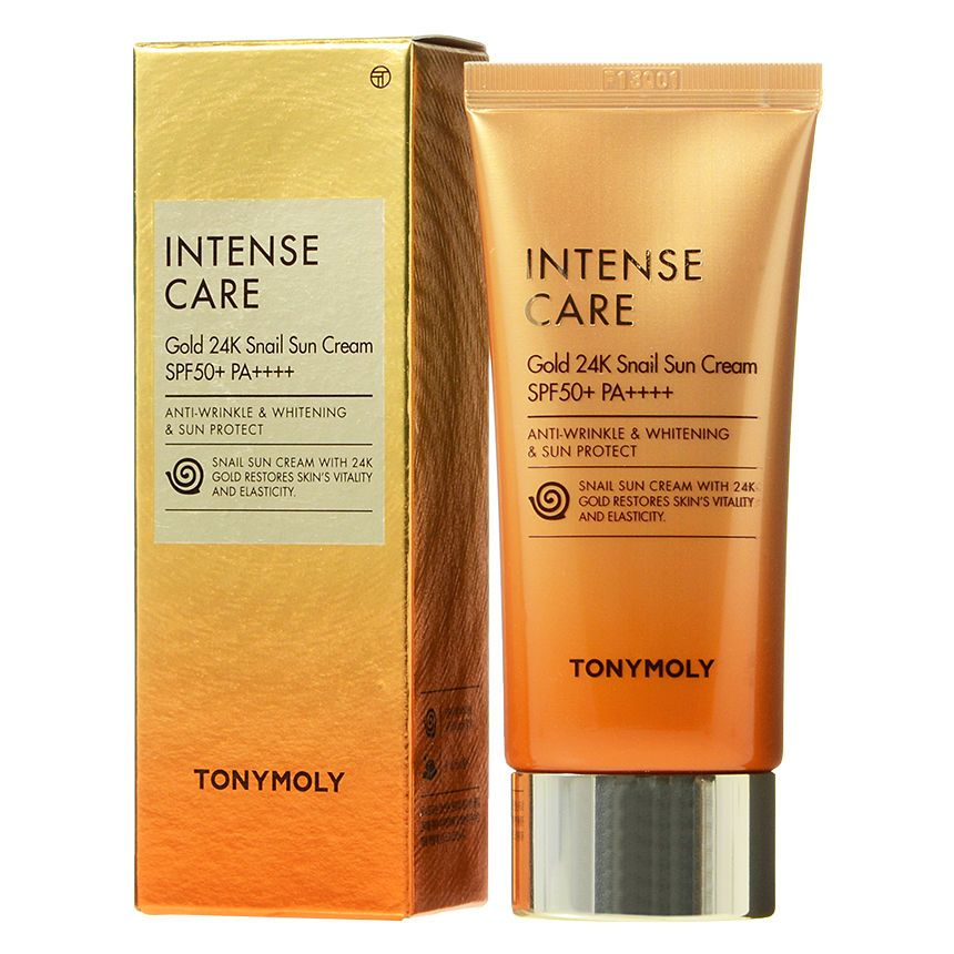 Tonymoly Intense Care Gold 24k Snail Sun Cream Spf50 Pa 50ml Yesstyle Sun Cream Tony Moly Intensive Cream