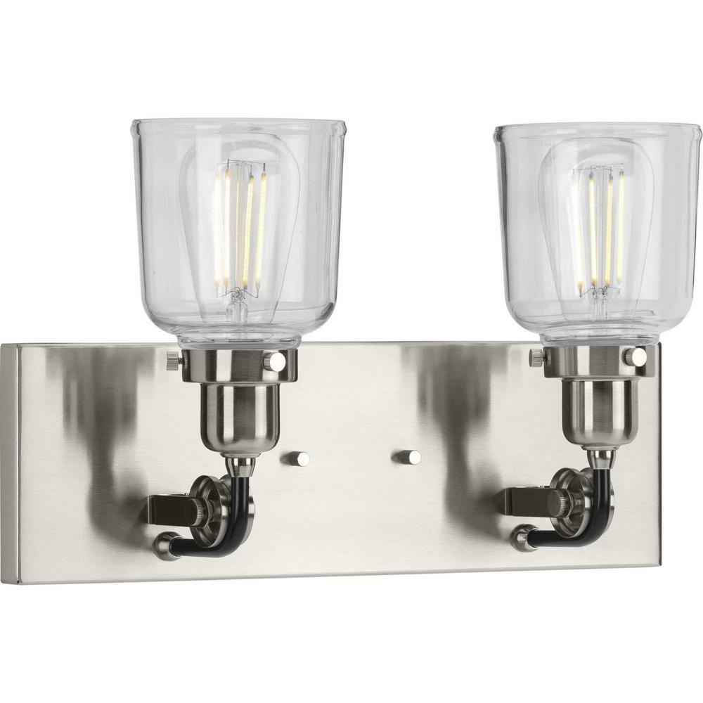 Photo of Progress Lighting Adley 1-light bathroom lamp made of polished nickel P300154-104 – The Home Depot