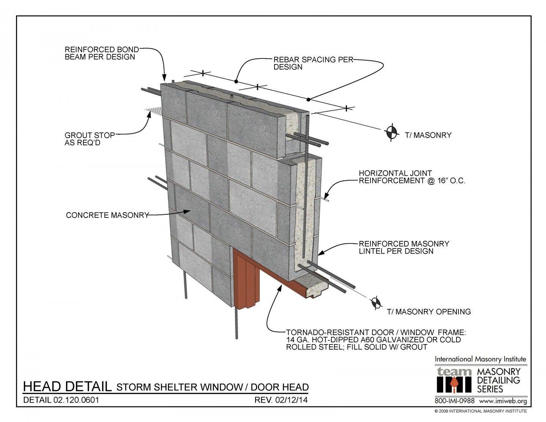 02 120 0601 Masonry Concrete Lintels Roof Detail