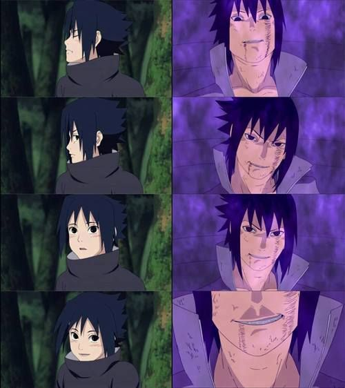 sasuke change in smile