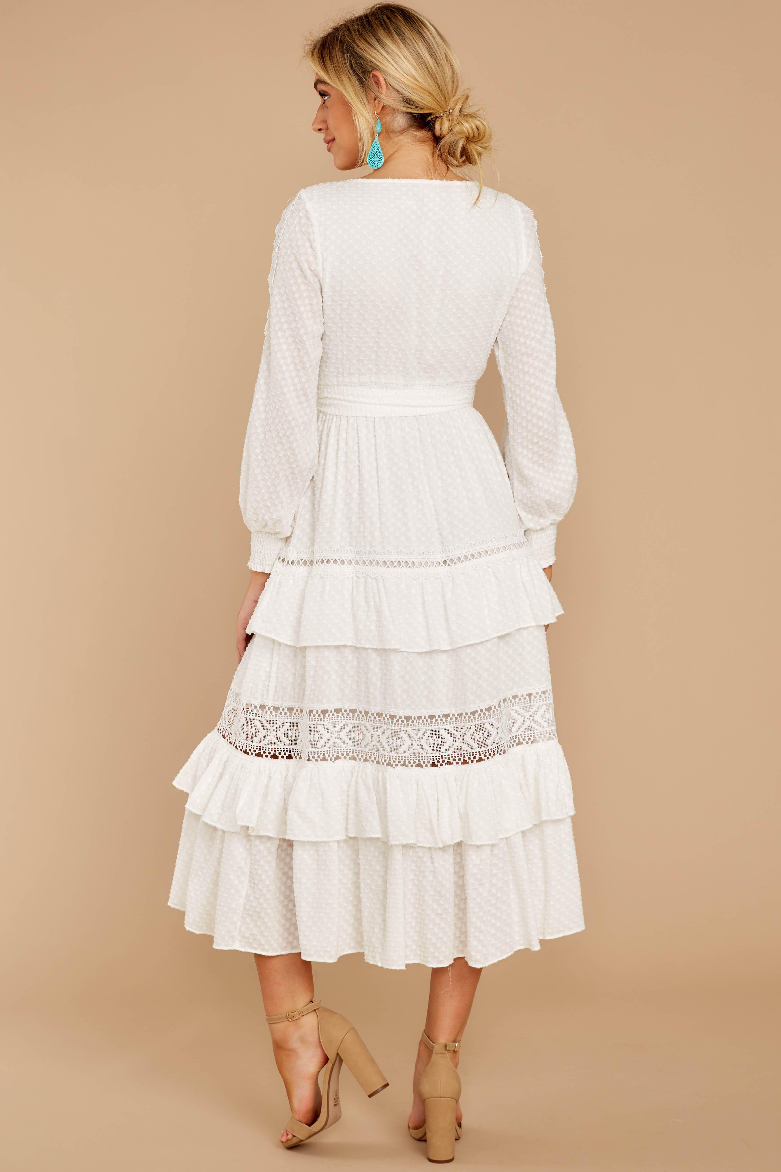One Day Soon White Lace Midi Dress White Lace Midi Dress Dresses Midi Dress [ 4586 x 3057 Pixel ]