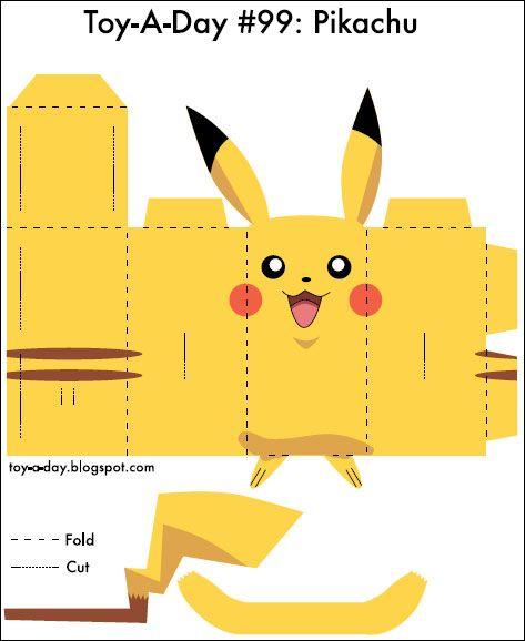 Pikachu Para Recortar E Montar