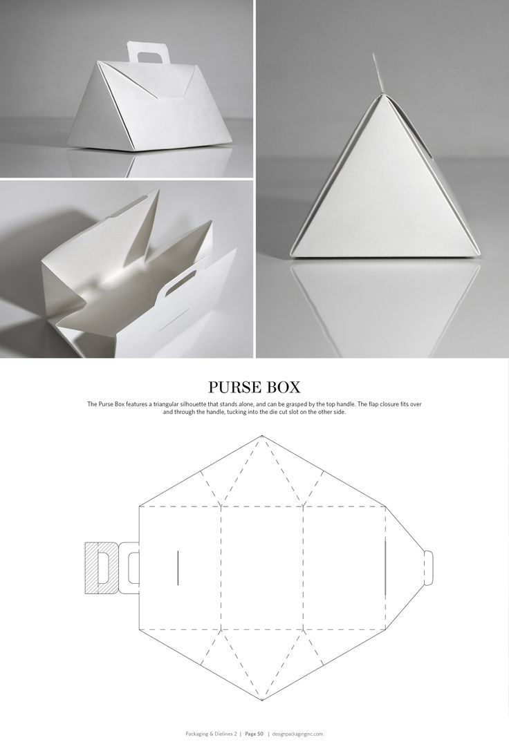 Purse Box Structural Packaging Design Dielines