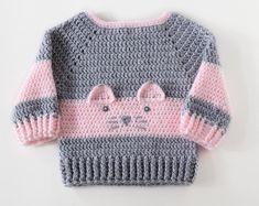 Pull bébé garçon, pull encolure dégagée, Cardigans bébé, cadeau pour bébé garçon, 1er cadeau d'anniversaire pour garçon, chandail, vêtements de bébé de Crochet