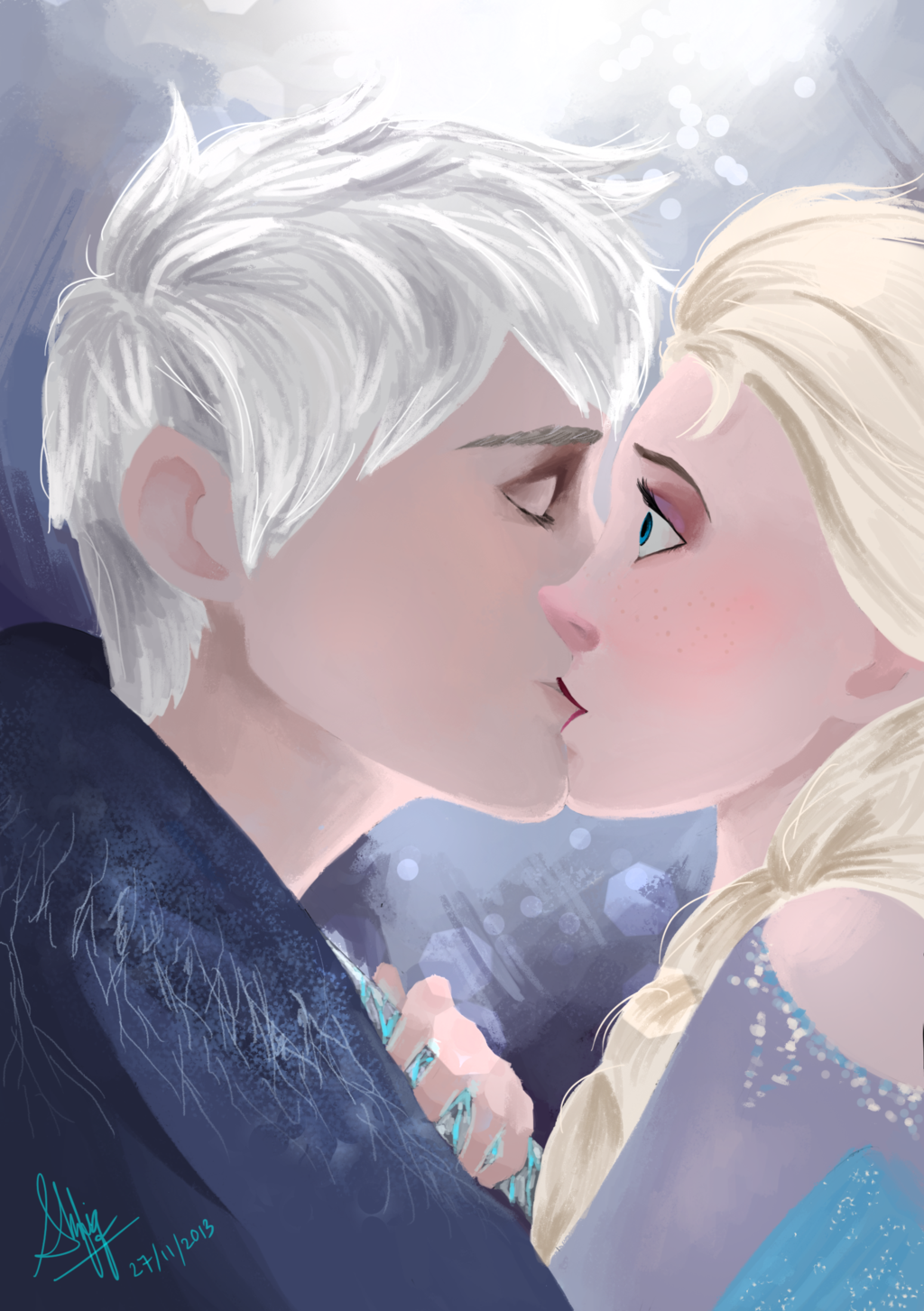 jack frost and elsa kiss - Google Search