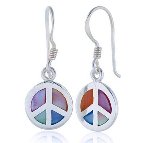 Dangly Peace Sign Earrings Make A Great Gift For An 8 Year Old