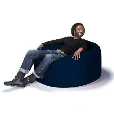Large Bean Bag Gaming Chair Upholstery Microsuede Navy