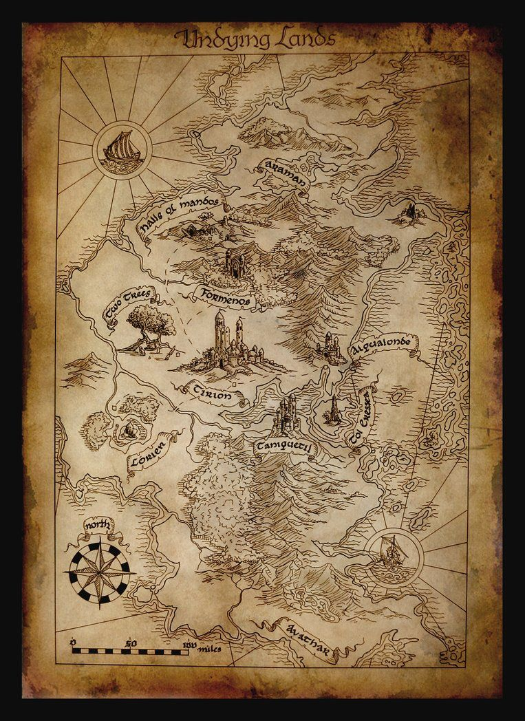 Map of Aman by amegusa | Maps of Middle Earth | Pinterest ...