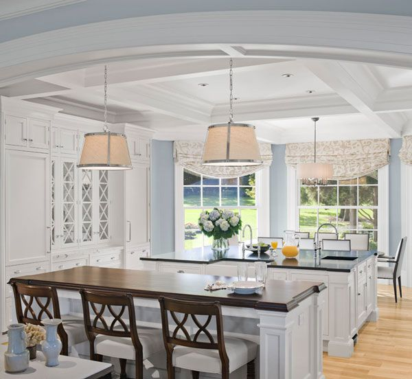 White cabinets with dark counters