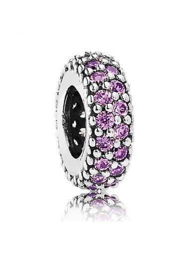 #Pandora Silver Fancy Purple Cubic Zirconia #Spacer 791359CFP