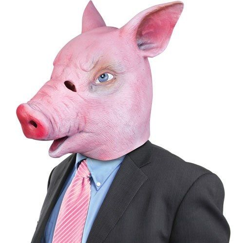 If you are a big fan of pigs then this rubber pig mask is perfect for you. Realistic and durable. Wear it in the fields and roll around in the mud with your friends. http://musicaljuice.jimdo.com/juicey-stuff/#pigmask