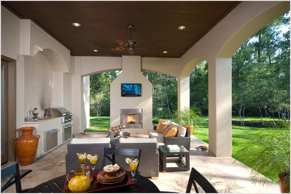 outdoor patios patio contemporary covered. contemporary outdoor patio dining design wooden ceiling and fireplace patios covered r