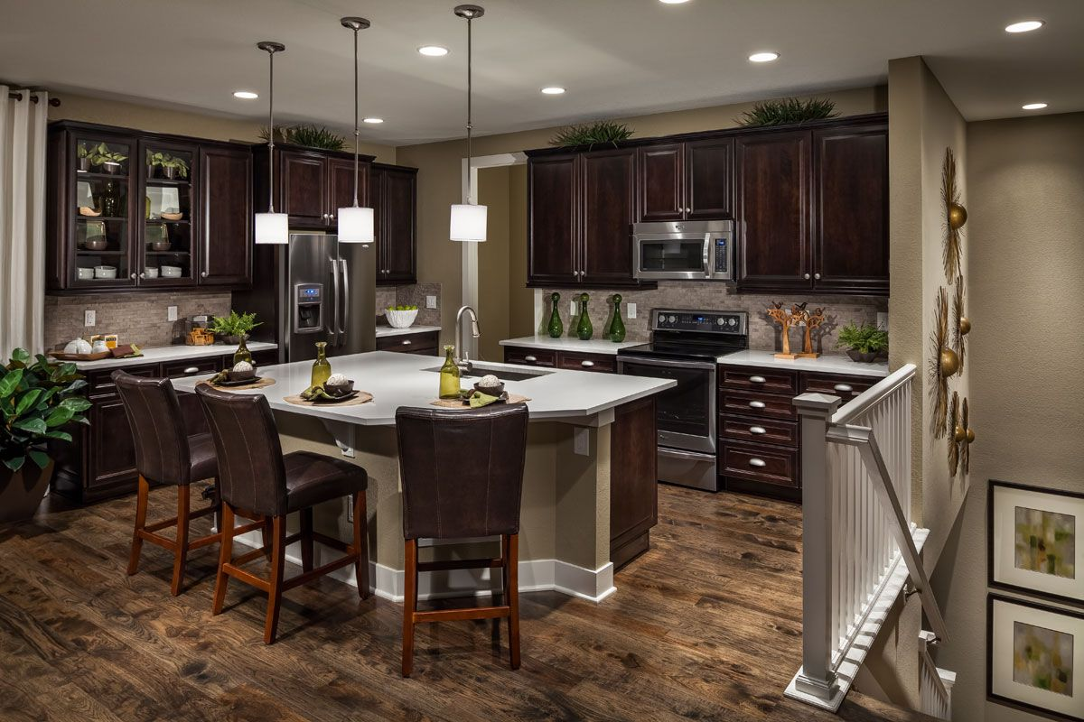 Kb homes on pinterest for Homey kitchen designs