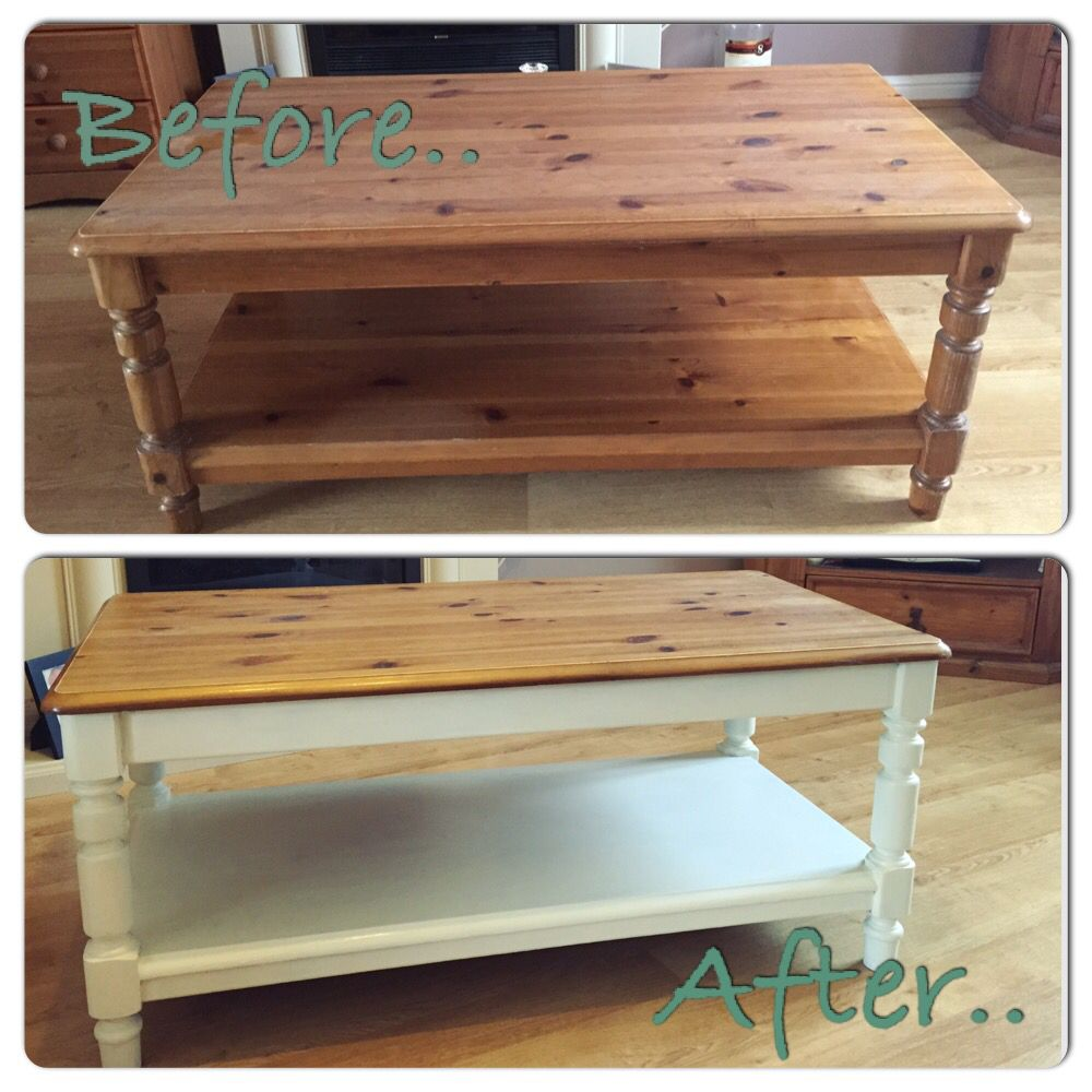 Up Cycled Pine Coffee Table Pine Furniture Makeover Coffee