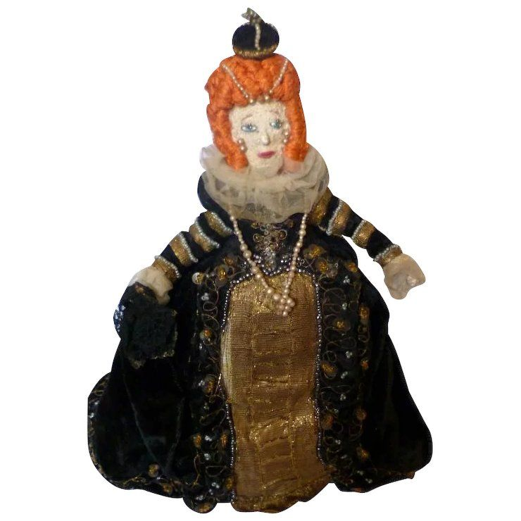 "RARE Vintage 9"" Queen Elizabeth I Doll Liberty of London"