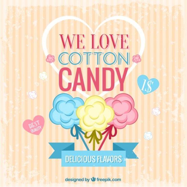Poster algodão doce Vetor grátis