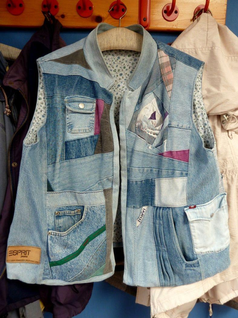 Jeansrecycling: jap. Knotentasche | Alles aus Jeans | Pinterest ...