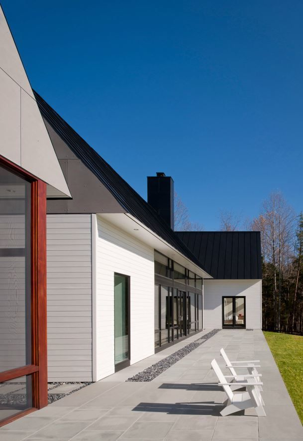 No Gutter So Theres A Trough Of Gravel Architecture House Architect House