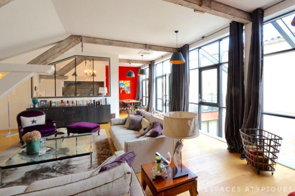 Bordeaux Loft Familial Avec Terrasse Aux Chartrons Agence Ea Bordeaux Maison Style Agence Immobiliere Loft