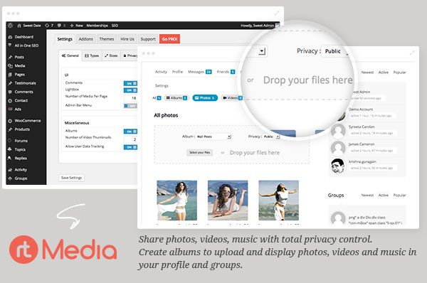 rtMedia Ready – Add albums, photo, audio/video encoding, privacy, sharing, front-end uploads & more.