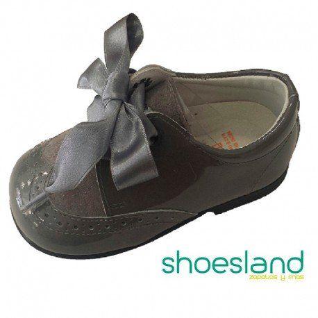 Zapatos Tipo Blucher Para Niña De En Charol y Ante Camel - Camel, 24 Andanines