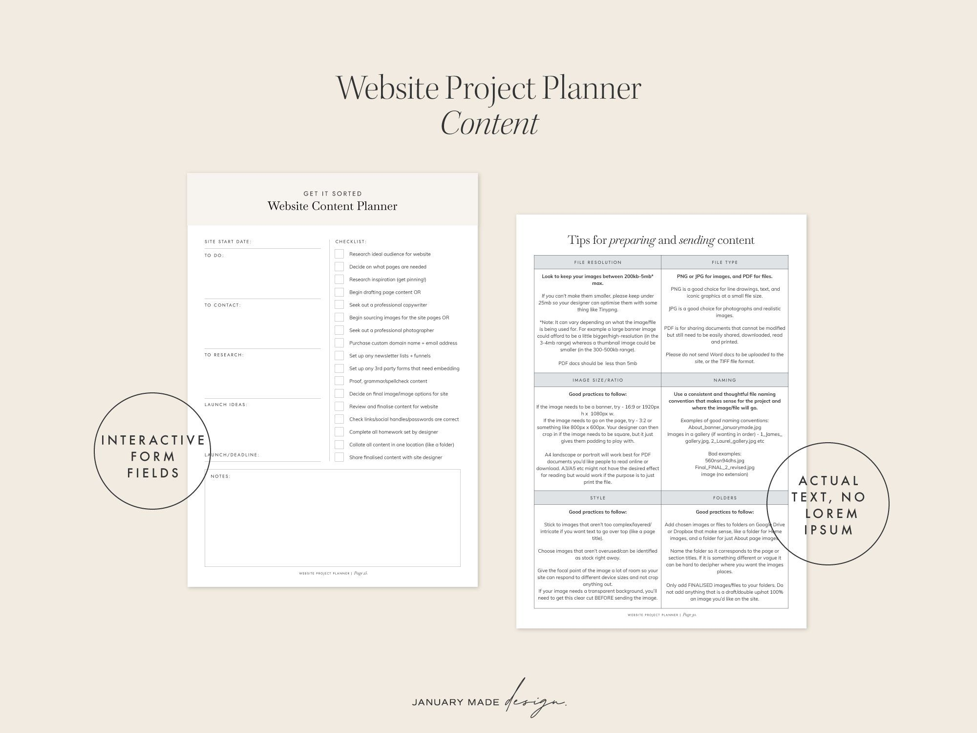 Website Project Planner Template Project Planner Template Project Planner Indesign Templates Website redesign project plan template