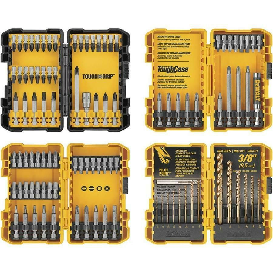 Dewalt 100 Piece Shank Screwdriver Bit Set W Cases Model