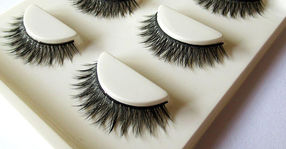 3 Pairbox Eye Lash Wispy Dramtic Look False Eyelashes Permanent