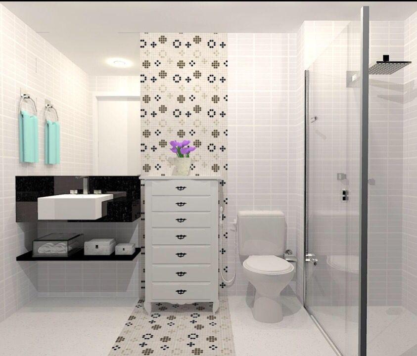 Banheiro Preto e Branco: moderno e requintado!