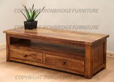 size 40 568ba 43d51 Ironbridge Range Solid Indian Rosewood Sheesham TV Stand ...